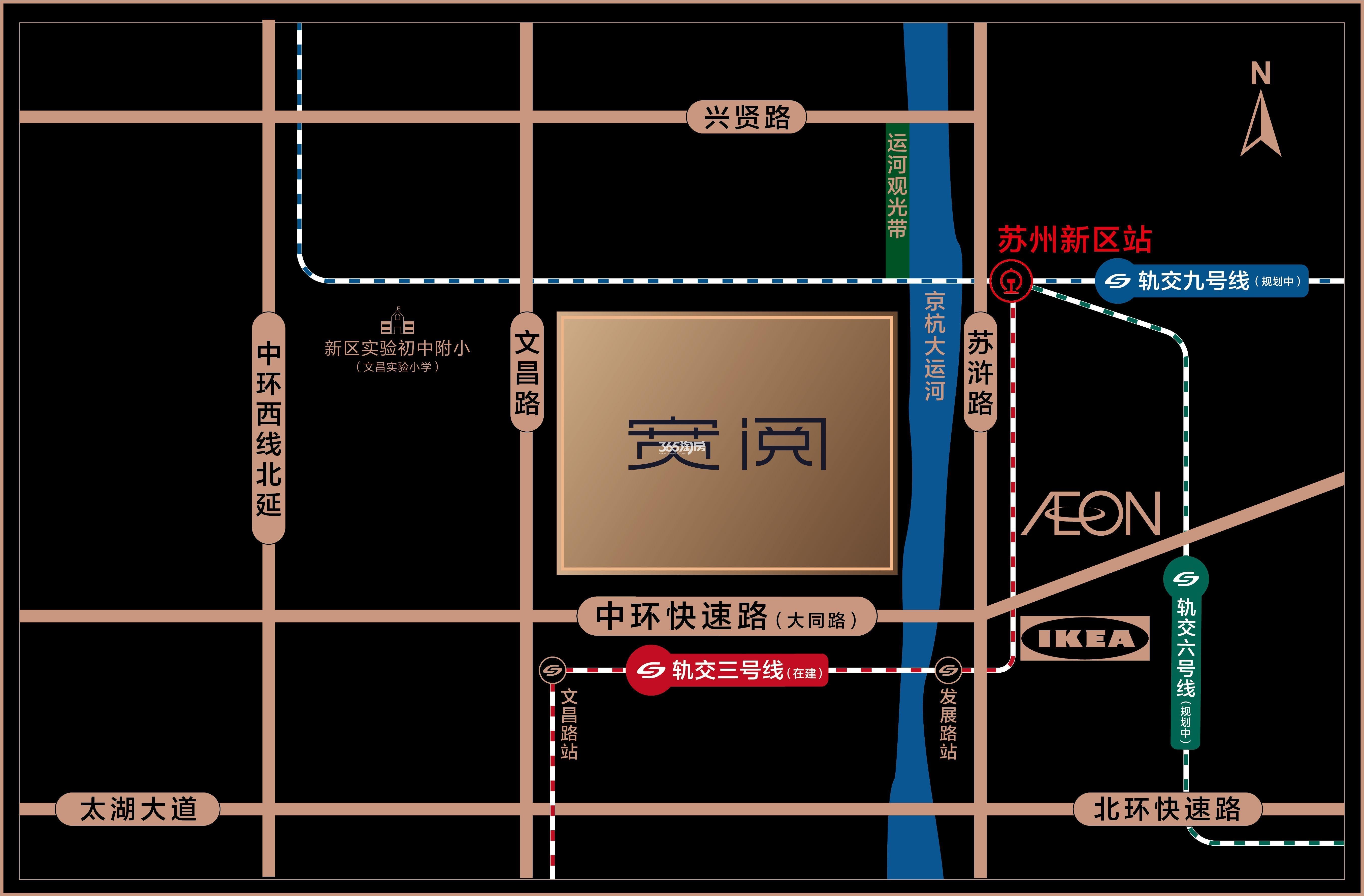 旭辉·宽阅雅苑交通图