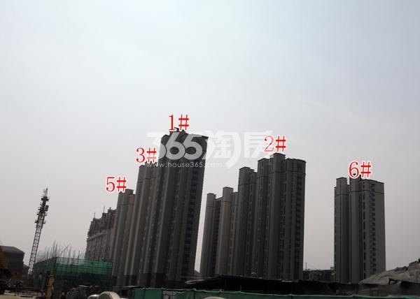 绿地理想城一期高层外立面已完成(6.5)