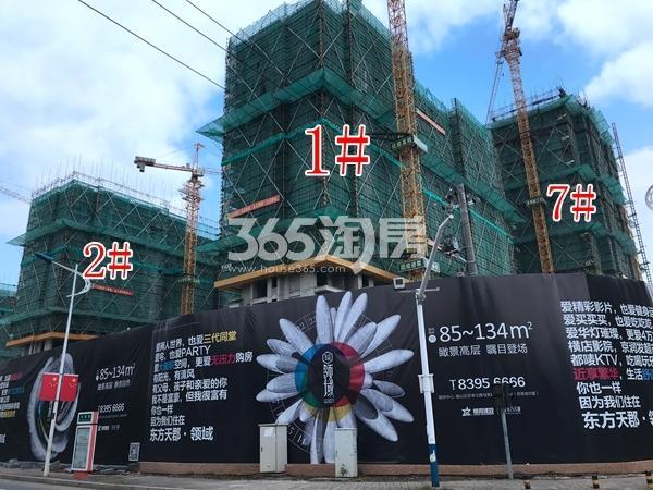 栖霞东方天郡三期高层1#、2#、7#楼实景图(2017.10 摄)