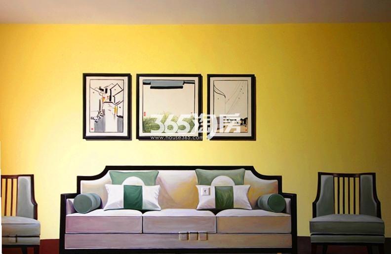 雅居乐国际花园B1户型125方样板房——客厅