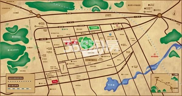 天庆蓝色港湾交通图