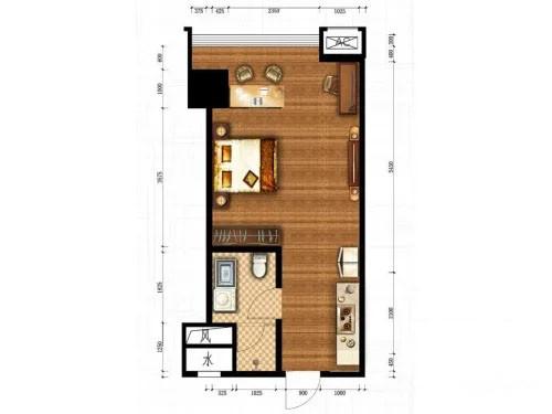信邦龙湖时代公寓B户型