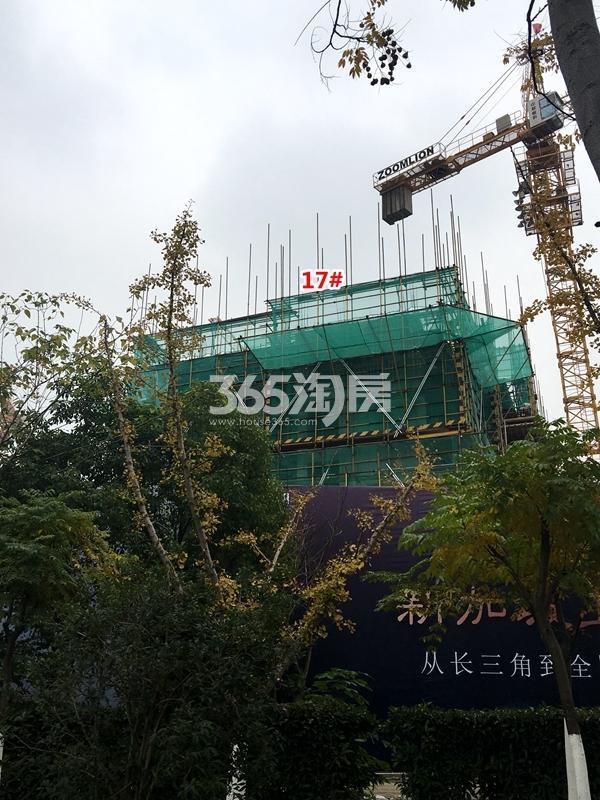 中锐星公元17#楼高层工程实景(2017.11摄)