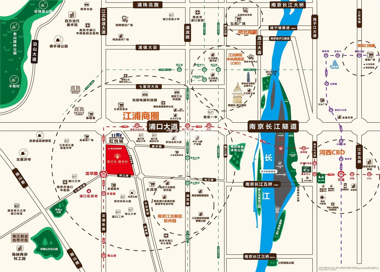 雅居乐御宾府区位交通图