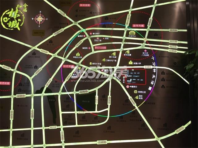 金瑞林城交通图