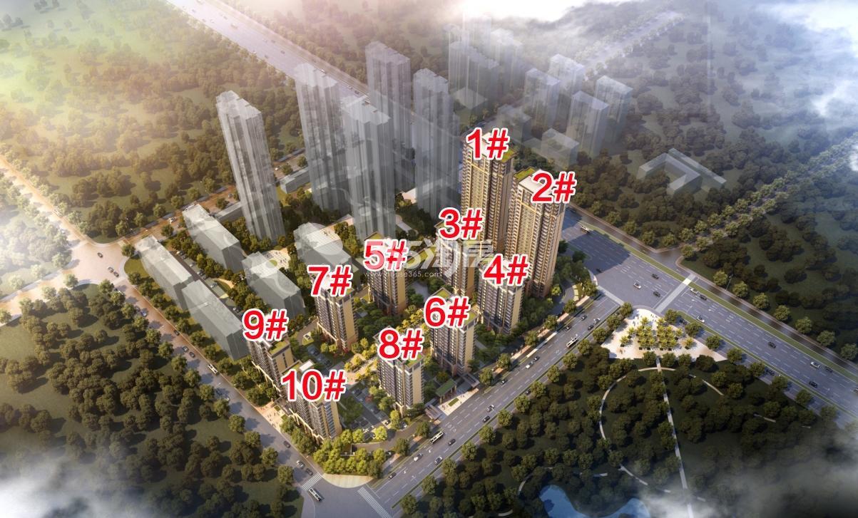 禹洲珑玥湾鸟瞰图