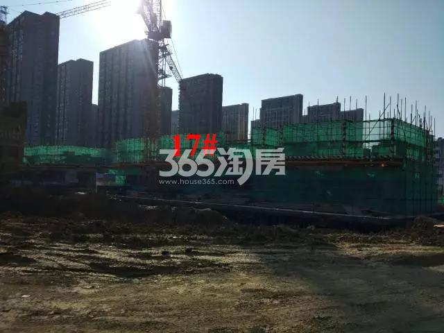 新城北宸紫郡17#工程进度实景图(2017.12.1)