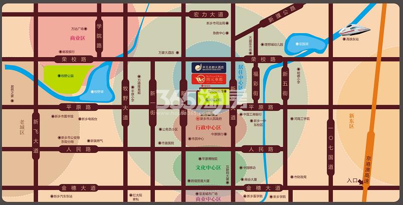 开元华都交通图