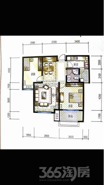 东方曼园2室2厅1卫94.3平米毛坯产权房2018年建