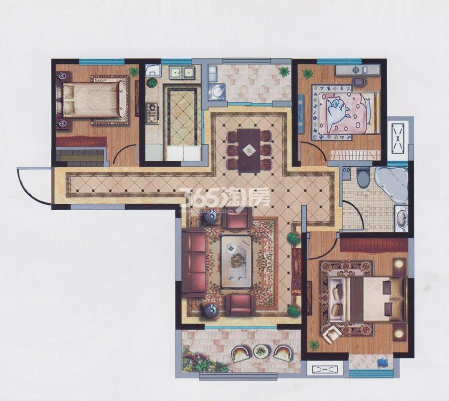 宝能城10#楼约125平户型