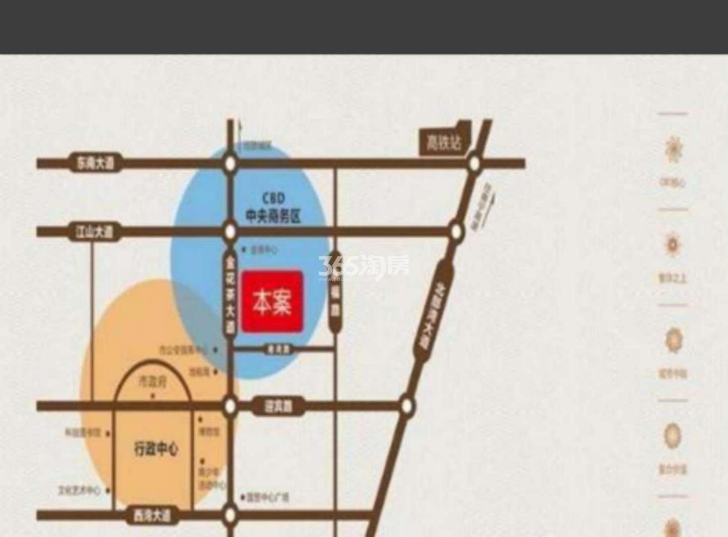 金地时代广场交通图