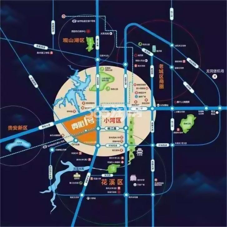 碧桂园贵阳1号交通图