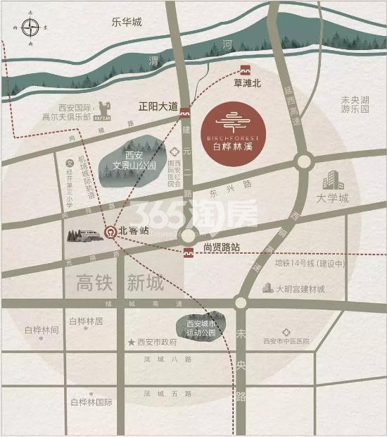 白桦林溪交通图