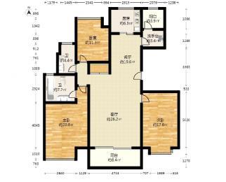 江岛华庭3室2厅2卫137.1平方产权房精装
