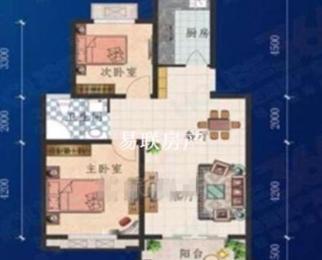 奥韵康城业主急售 婚房装修 南北通透两房 拎包入住户型方正