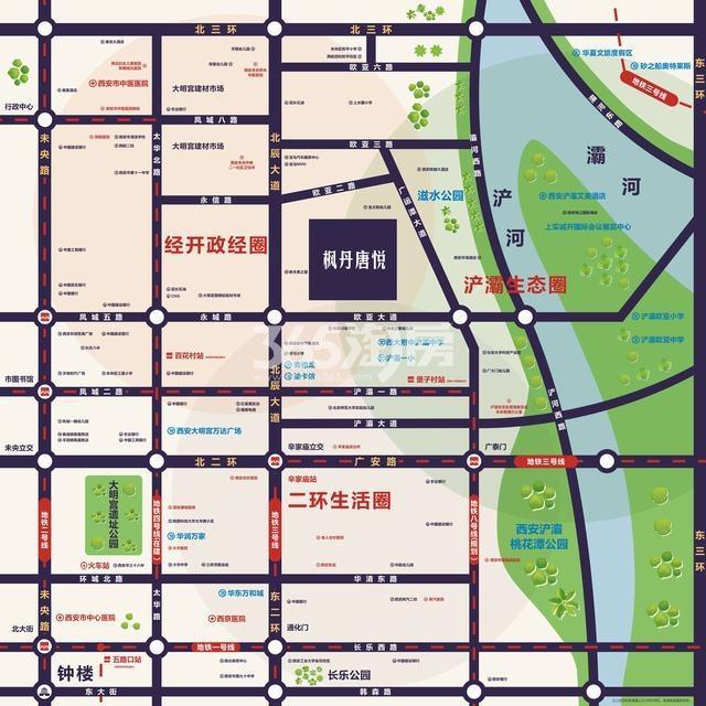 远洋合能枫丹唐悦交通图