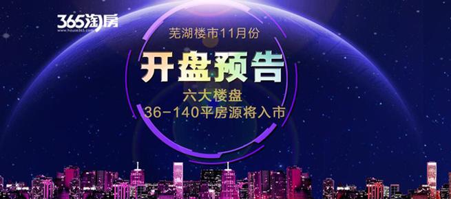 芜湖楼市11月开盘预告