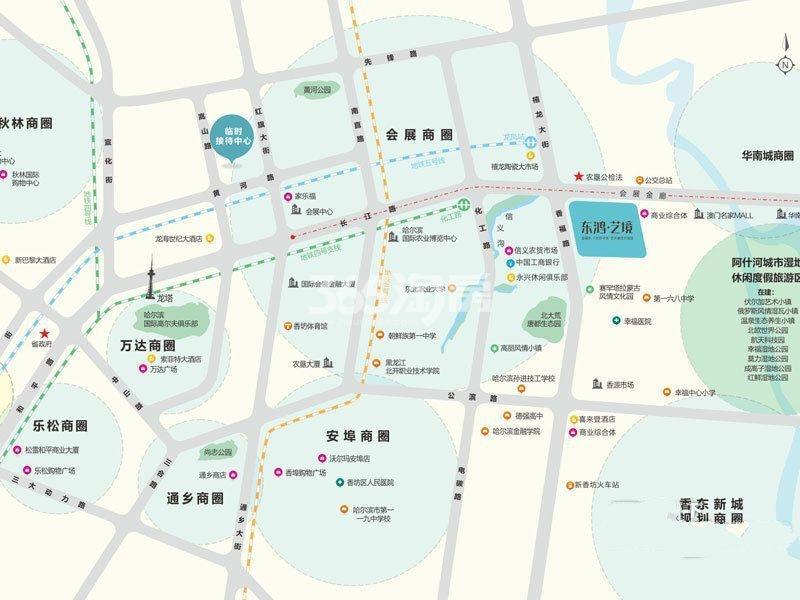 东鸿·艺境交通图
