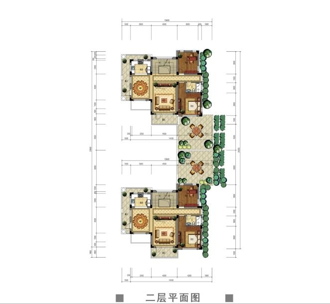 观澜天下56号楼二层户型图