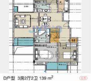 其他恒生福邸3室2厅2卫140㎡