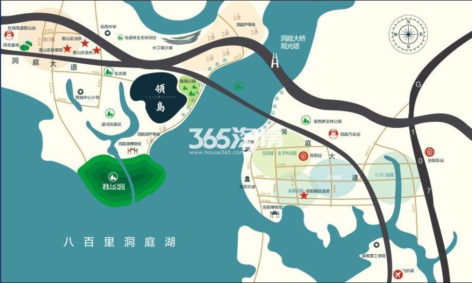 君山三角坪综合开发项目(合众·领岛)交通图
