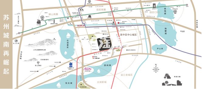 苏州鲁能公馆交通图