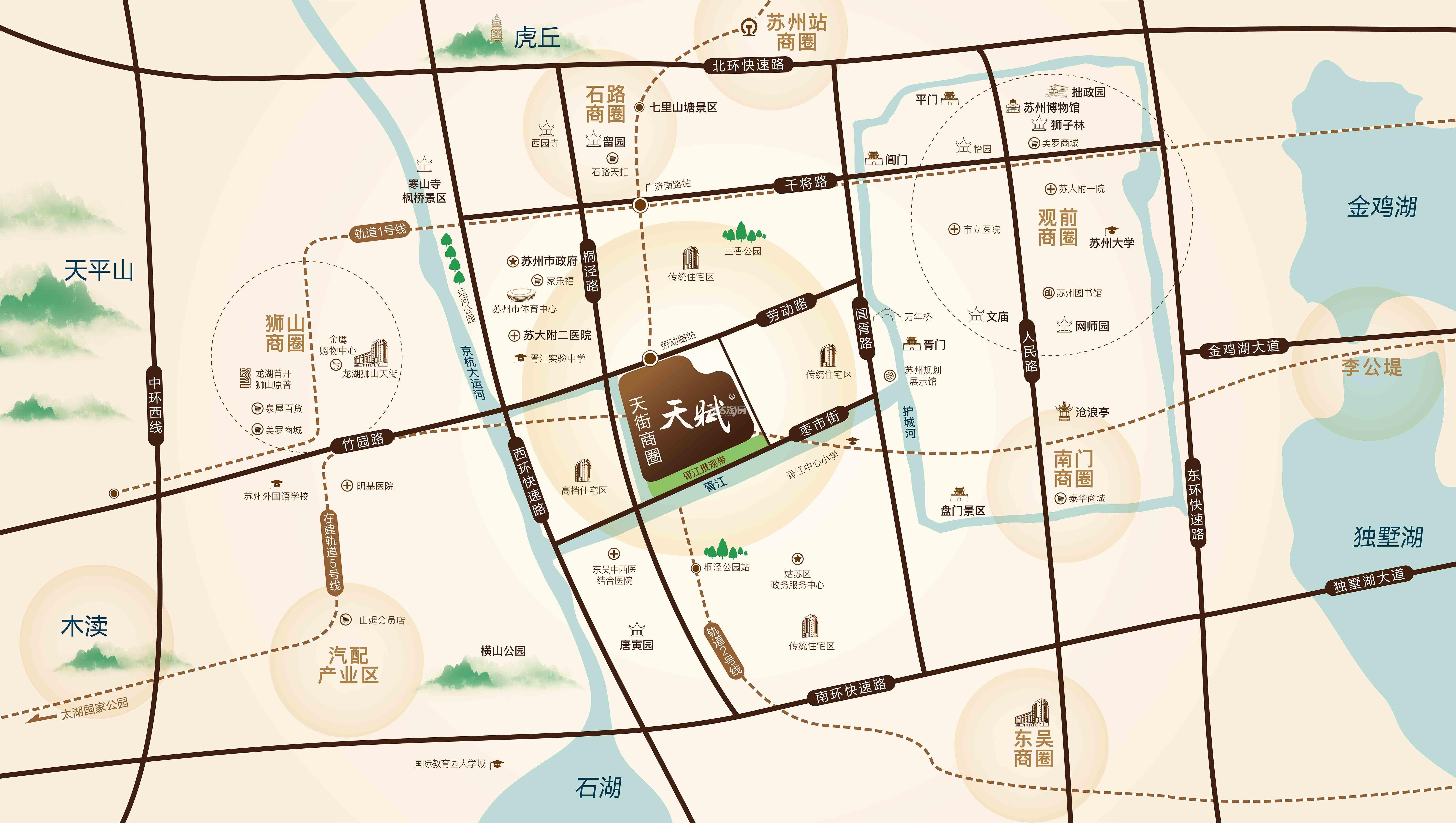 首开龙湖·天赋交通图