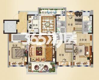 碧桂园城市花园YJ140T户型图