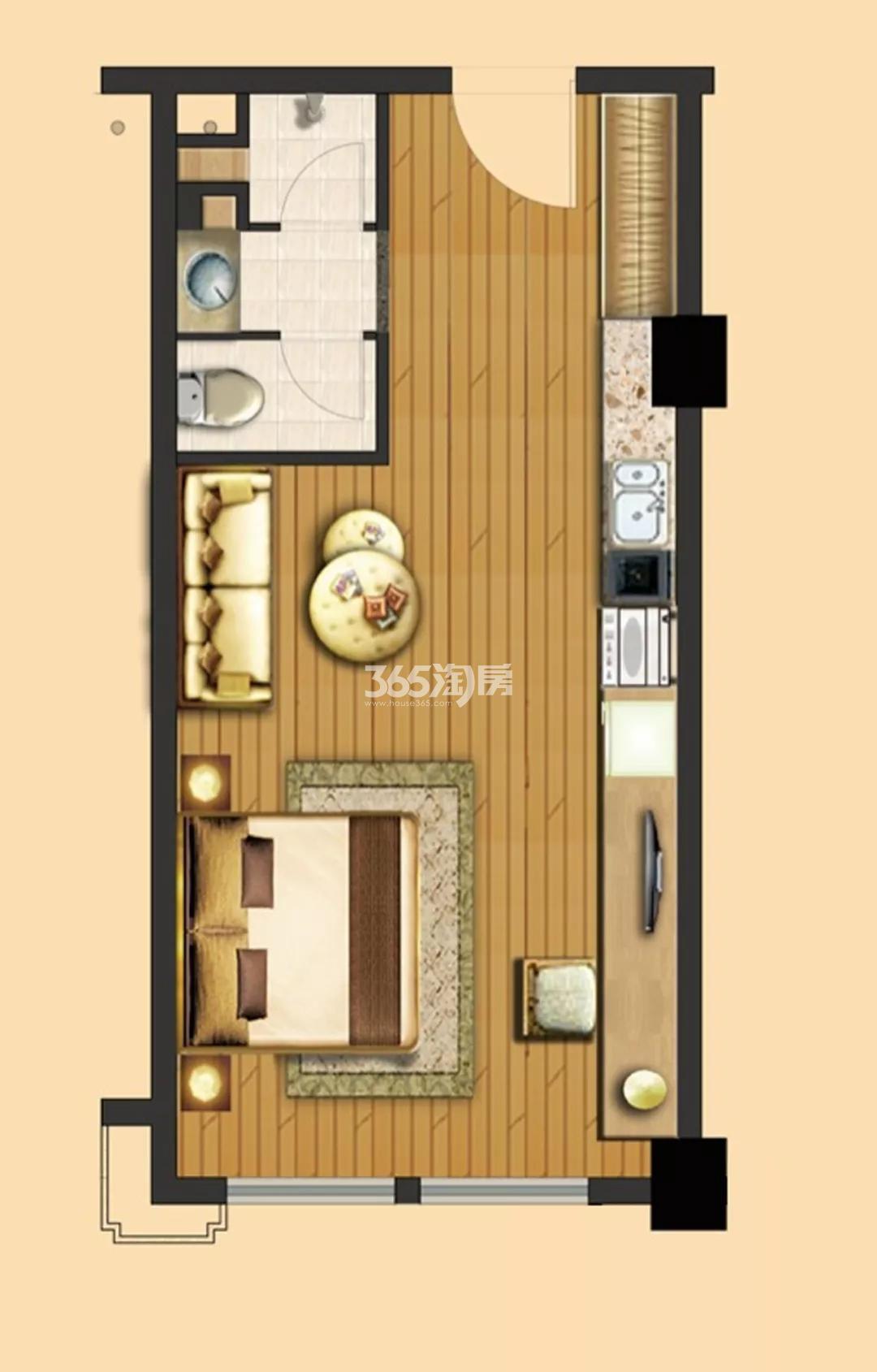宏图上水云锦公寓南向户型45-51㎡