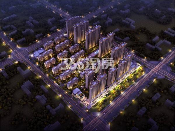 中国铁建花语城鸟瞰图