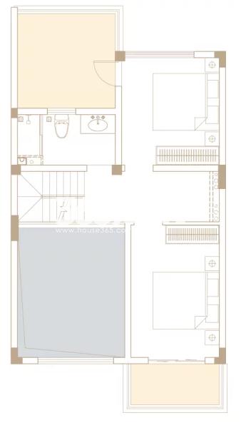 205平户型, 联排别墅-三楼
