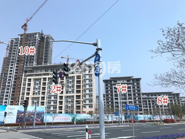 美的公园天下洋房2#、7#、8#楼;高层10#楼实景图(2018.4 摄)
