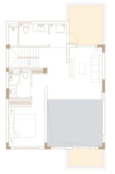 246平户型, 联排别墅-三楼
