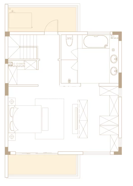 246平户型, 联排别墅-二楼