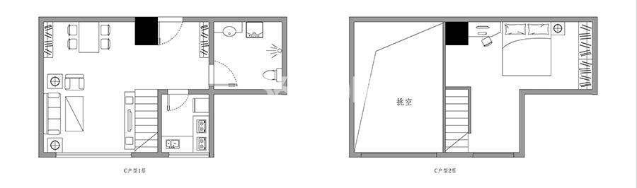 斯瑞天寓C户型67.28㎡平面