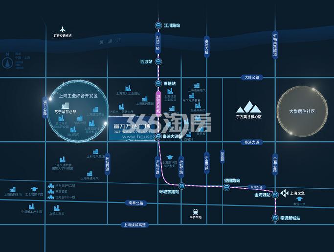富力万达广场交通图