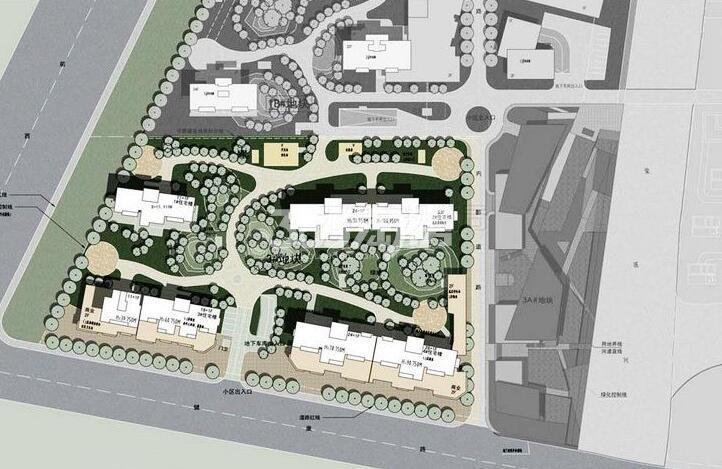 绿地西水东中央生活区3#地块规划图