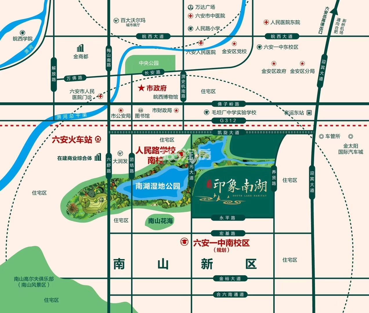 印象南湖交通图