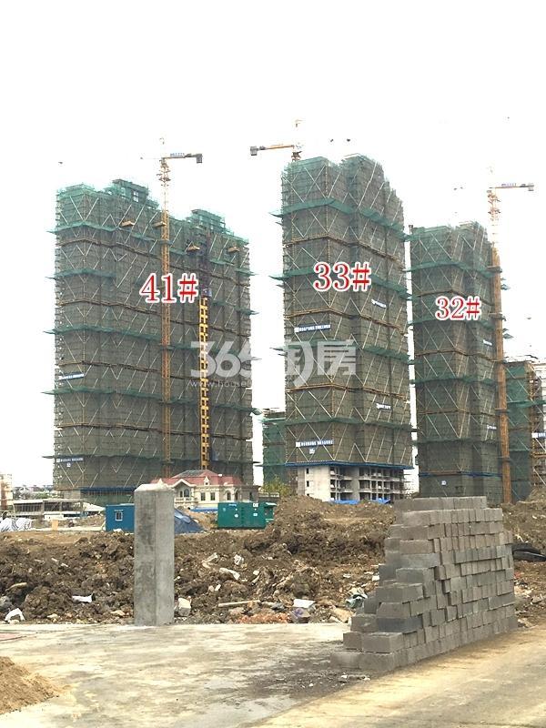 恒大观澜府B地块高层32#、33#、41#楼实景图(2018.4 摄)