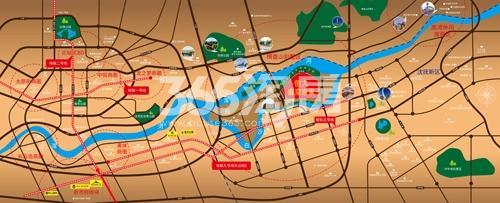 恒大盛京世家交通图
