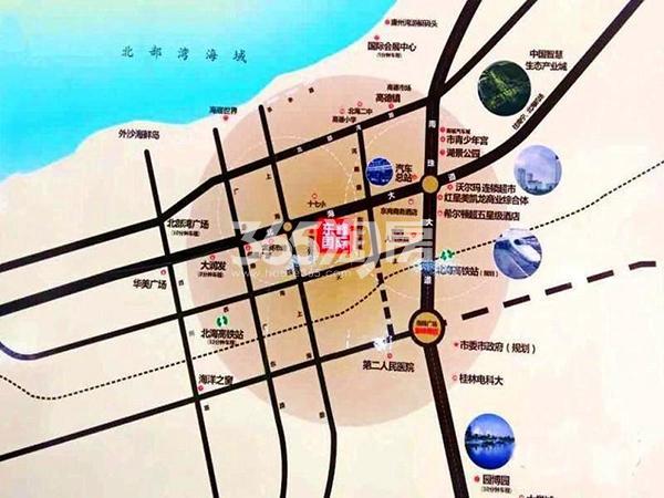 东峰国际公寓交通图