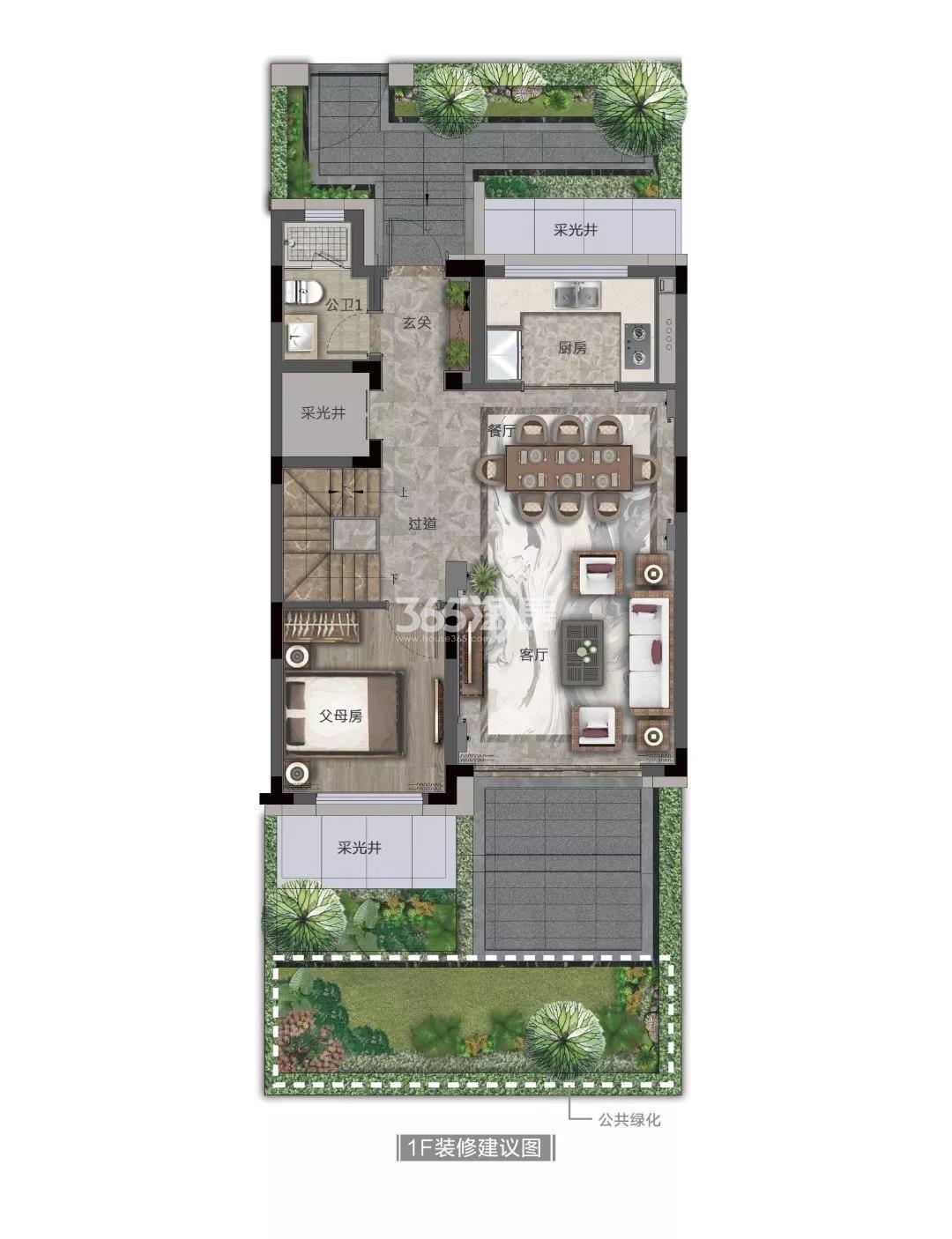 奥克斯金宸玖和府排屋165方(一楼)