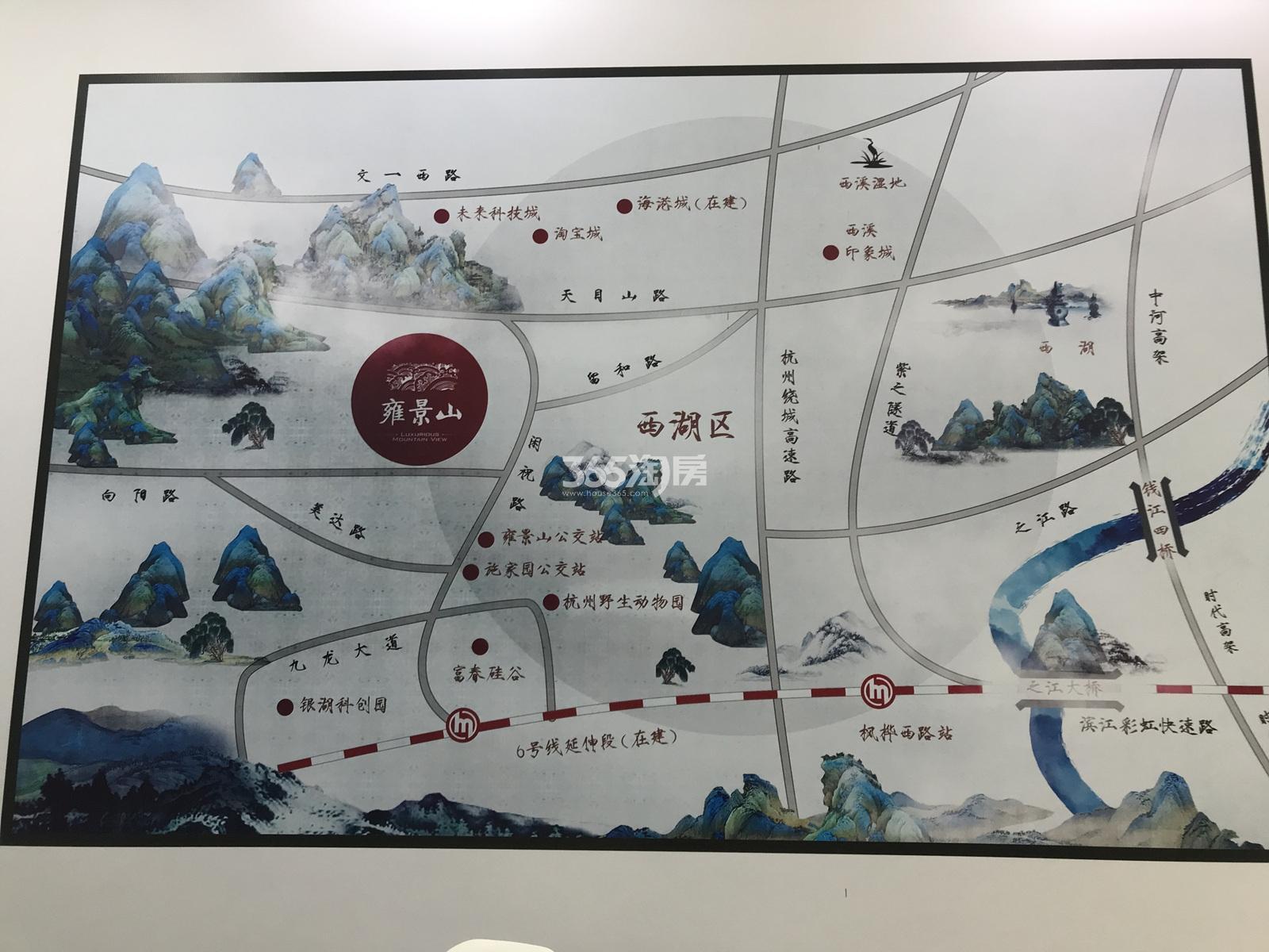 九龙仓雍景山交通图