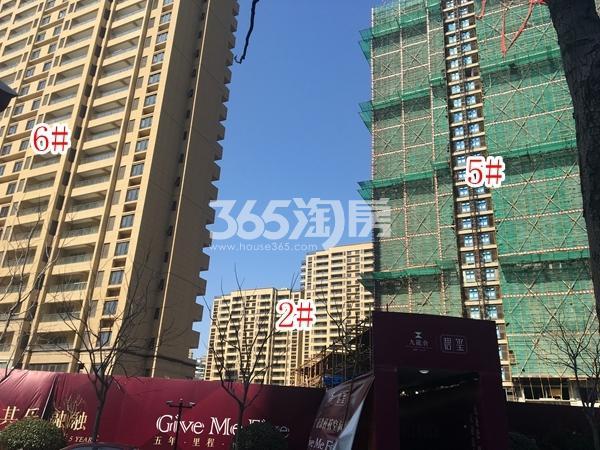 九龙仓碧玺高层2#、5#、6#楼实景图(2018.3 摄)