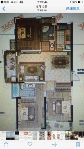 万达茂3室2厅2卫120平米豪华装产权房2018年建