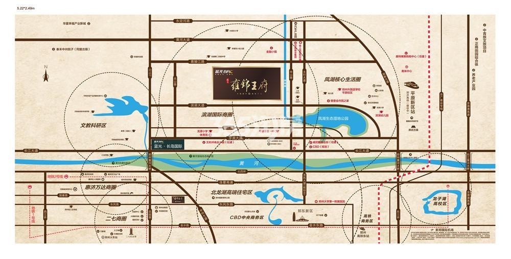 蓝光雍锦王府交通图