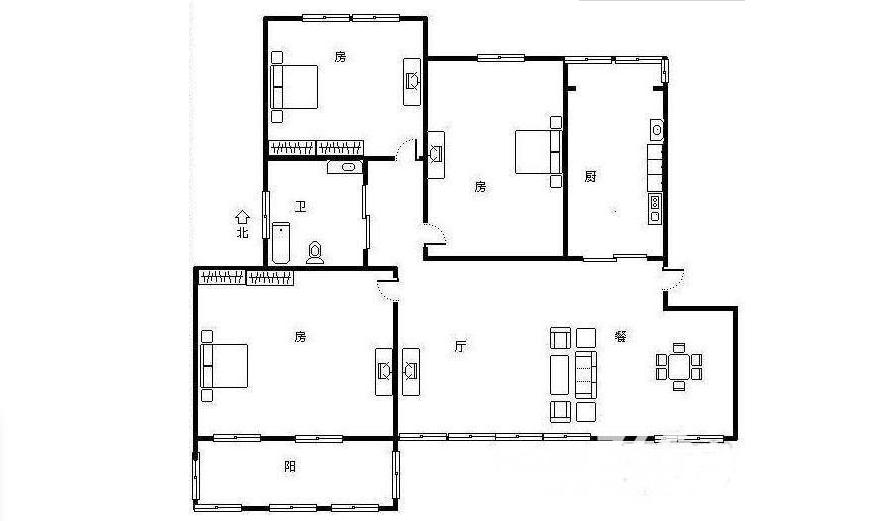 栖霞区仙林汇杰文庭3室2厅户型图