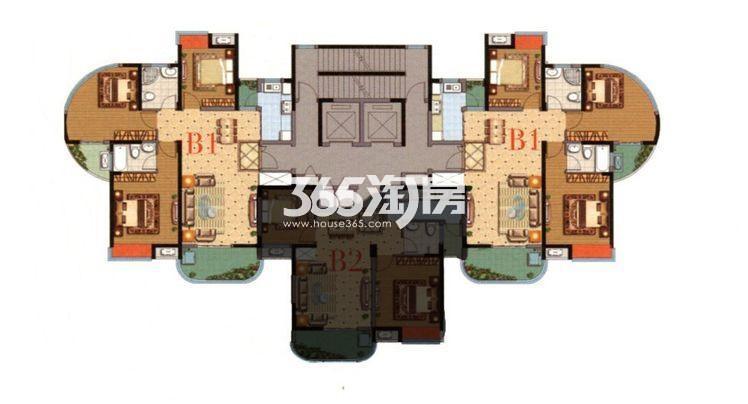 湖韵轩15号楼B1户型