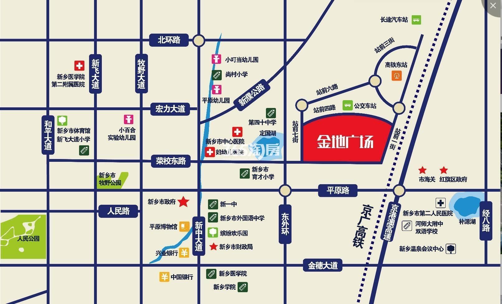 润华金地广场交通图