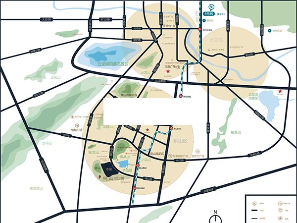 颐居隐山观湖交通图